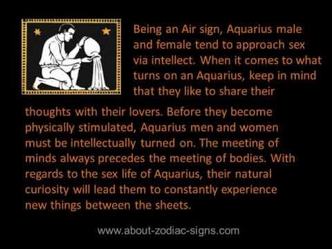 How to seduce an aquarius man sexually