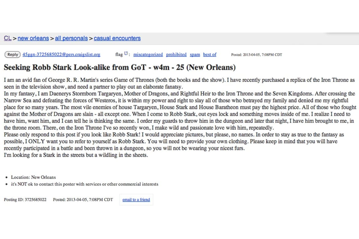 Craigslist all personals new orleans.