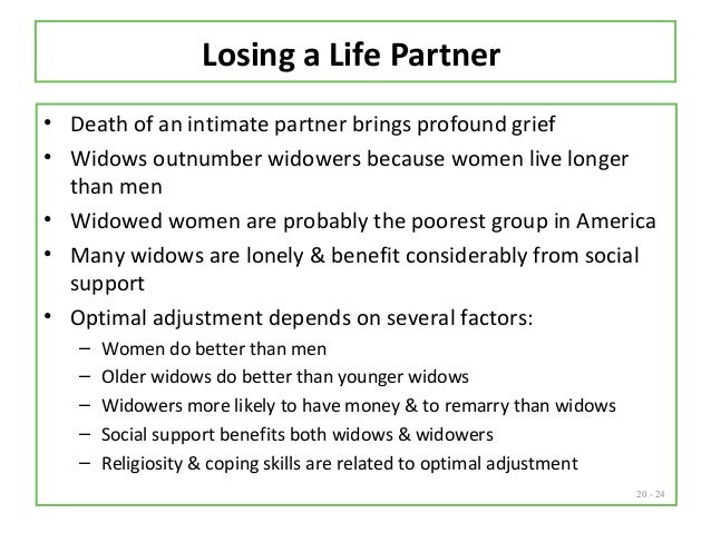 How do widows cope with loneliness