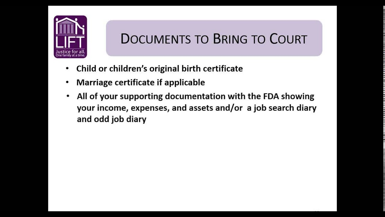 What to expect at child support court