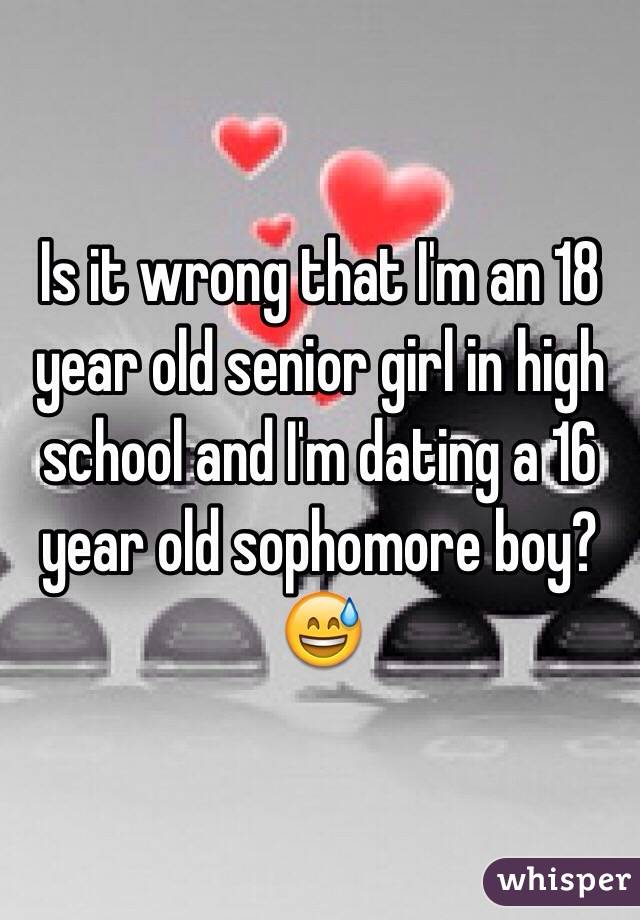 16 year old dating 18 year old