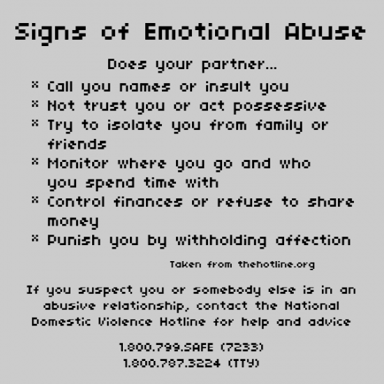 ignoring spouse emotional abuse