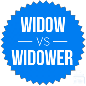 Difference between widow and widower