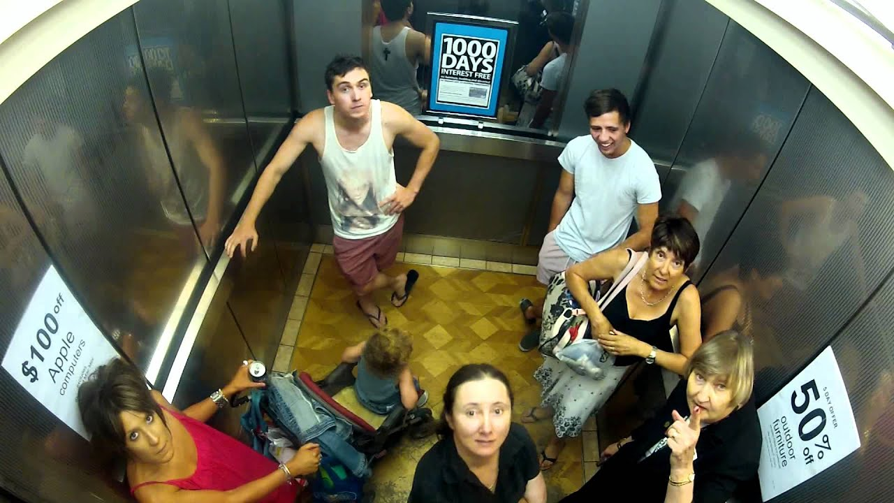 Farting in a lift