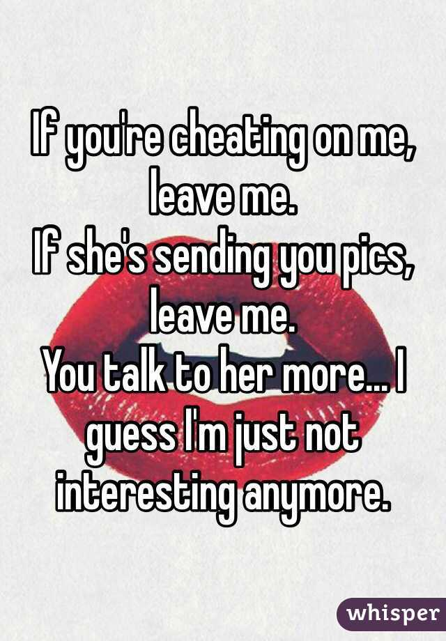 Is sending pictures cheating