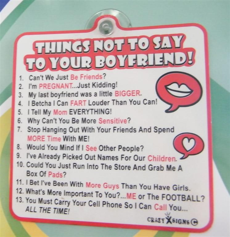 Things to bet your boyfriend