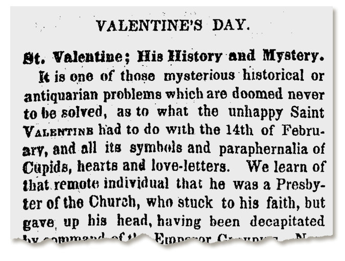 The history of valentine