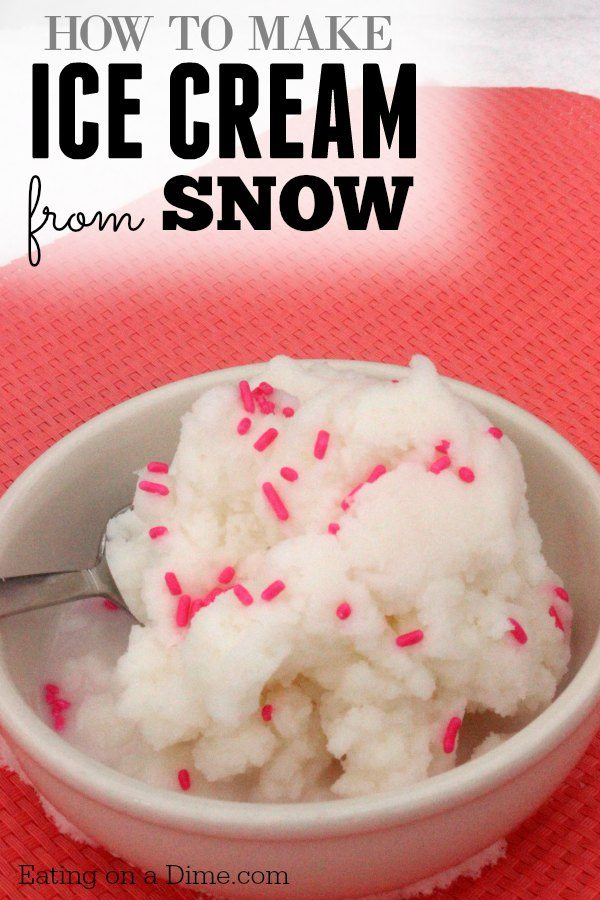Is snow ice cream safe to eat