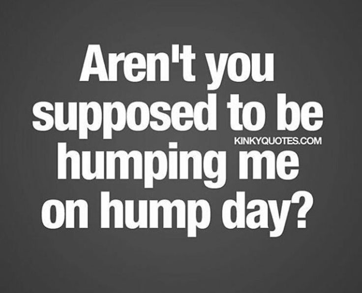 Sexy hump day memes