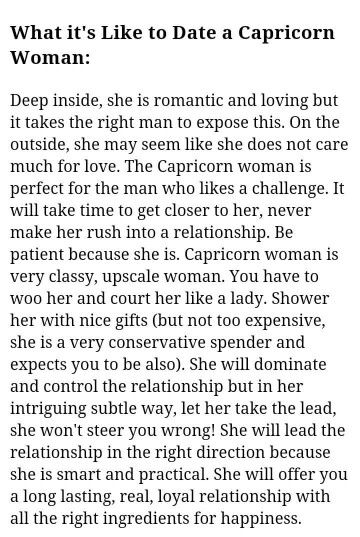 Dating a capricorn woman