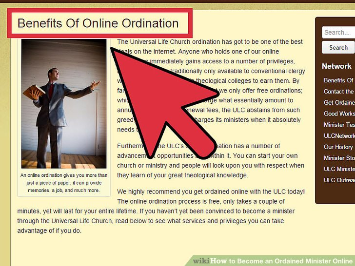 How to become an ordained minister in nc