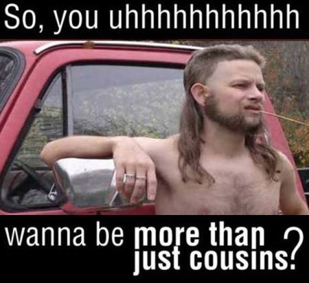 Hillbilly pick up lines