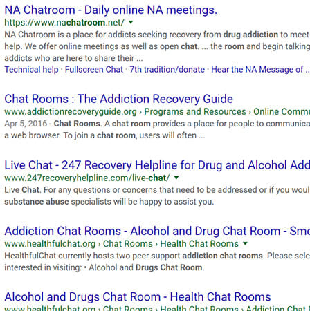 Anorexia chat rooms online