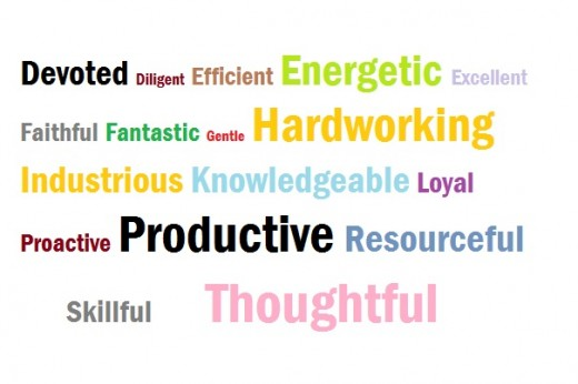 Words that describe yourself
