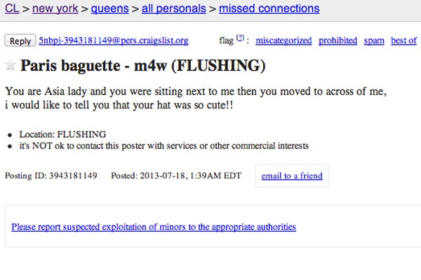 Craigslist new york all personals