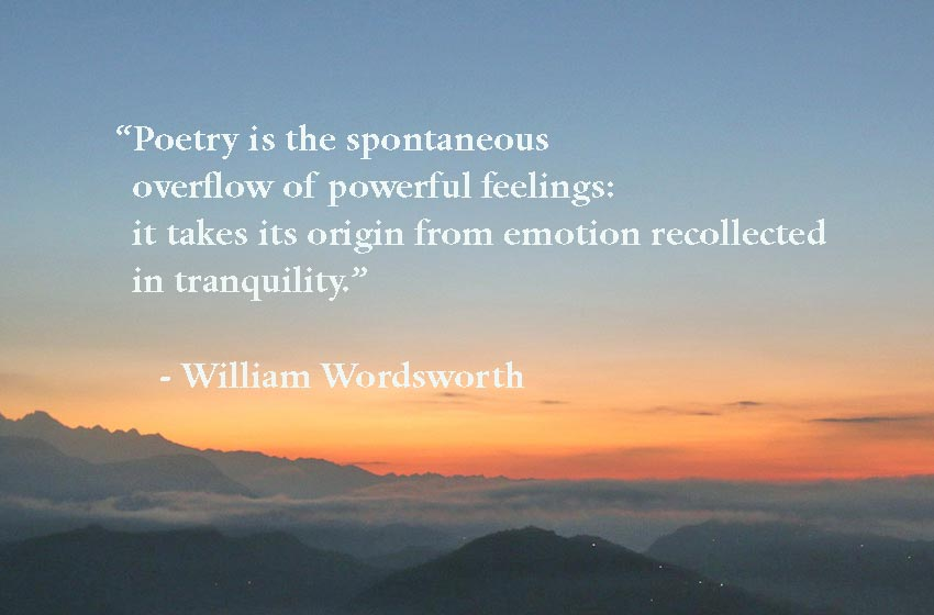Famous short poems of william wordsworth