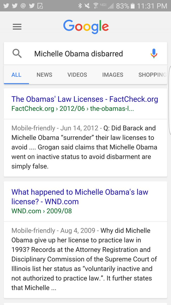 Was michelle obama disbarred
