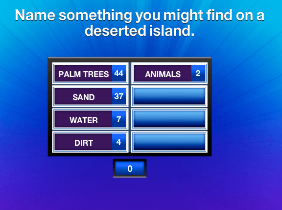 Name something you might find on a deserted island