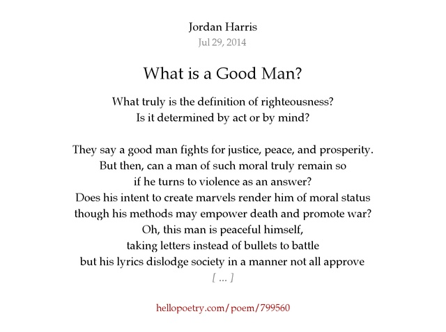 A Good Man By Definition