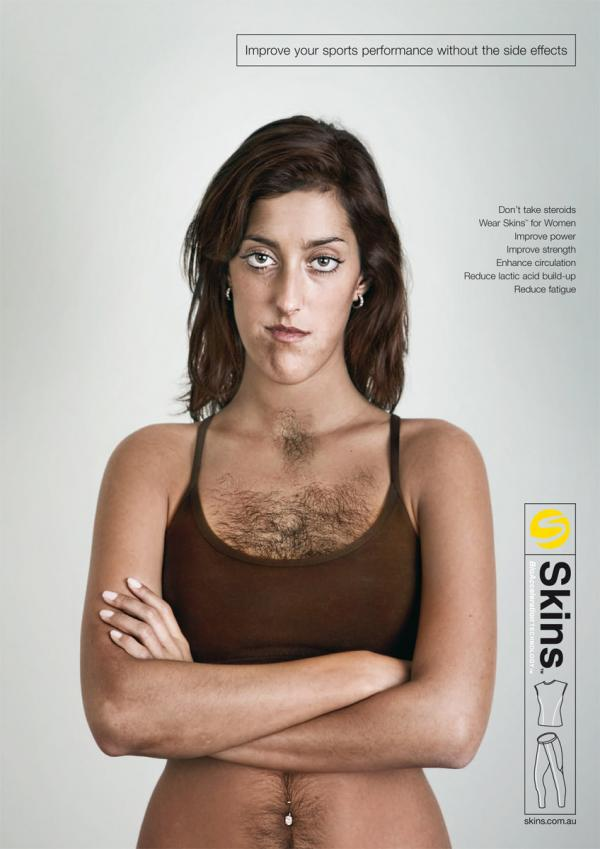 Women with hairy chest