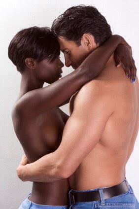 Black women white men naked