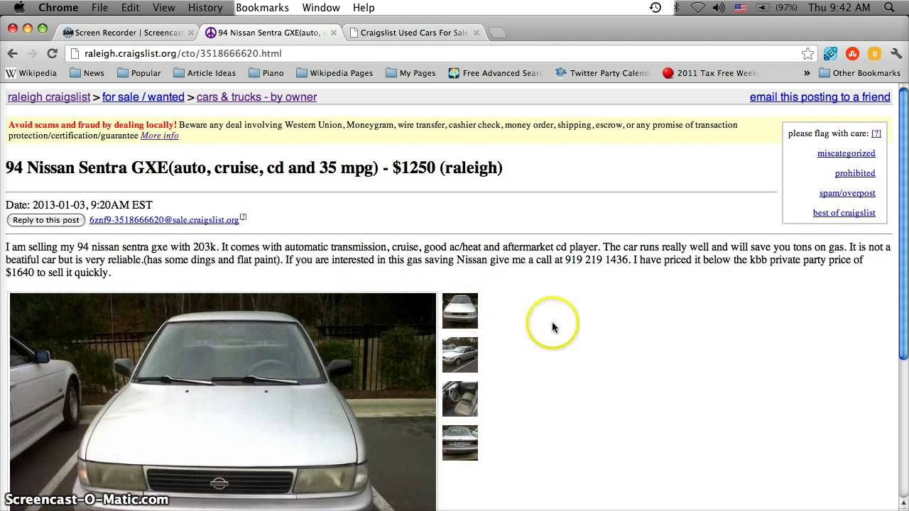 Craigslist raleigh durham chapel hill north carolina