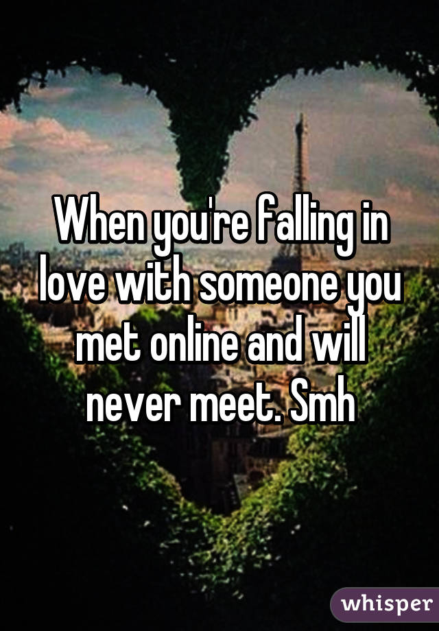 Falling in love with someone online