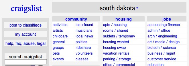 Craigslist south dakota personals