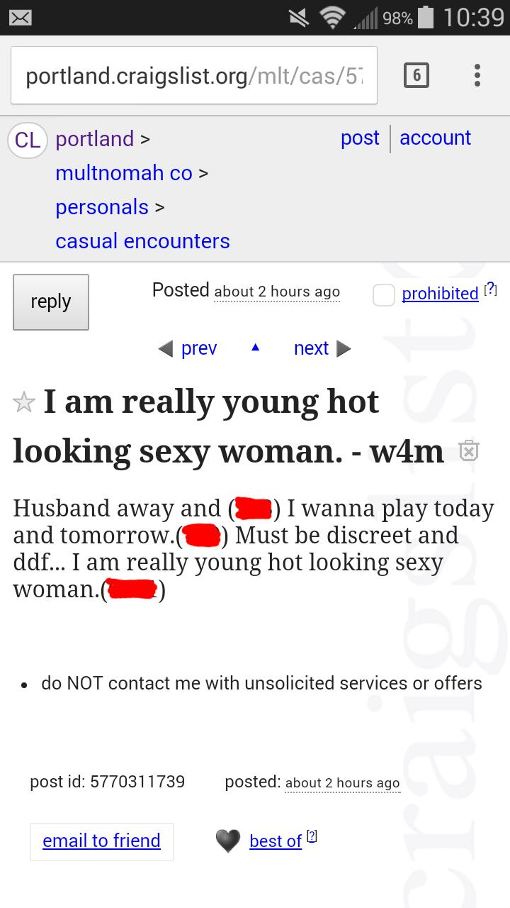 Portland oregon craigslist casual encounters