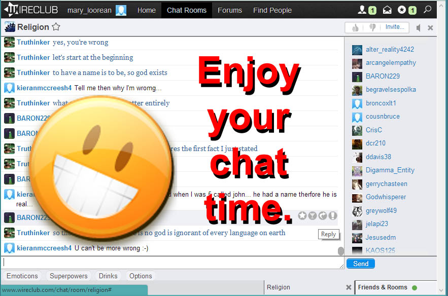 Chat rooms for seniors
