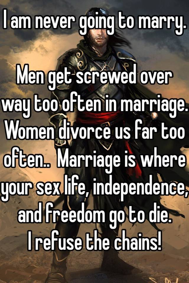 Men get screwed in divorce