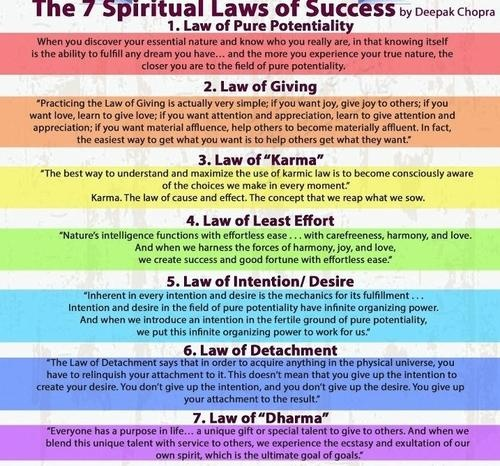 7 spiritual laws of love