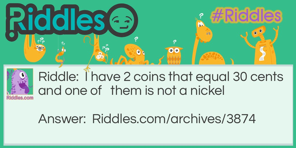 2 coins equal 30 cents