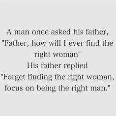 How to be good father and husband