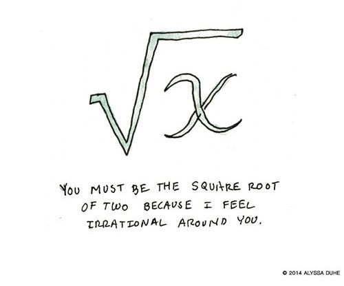 Mathematical chat up lines