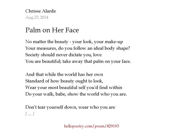 Looking for your face poem