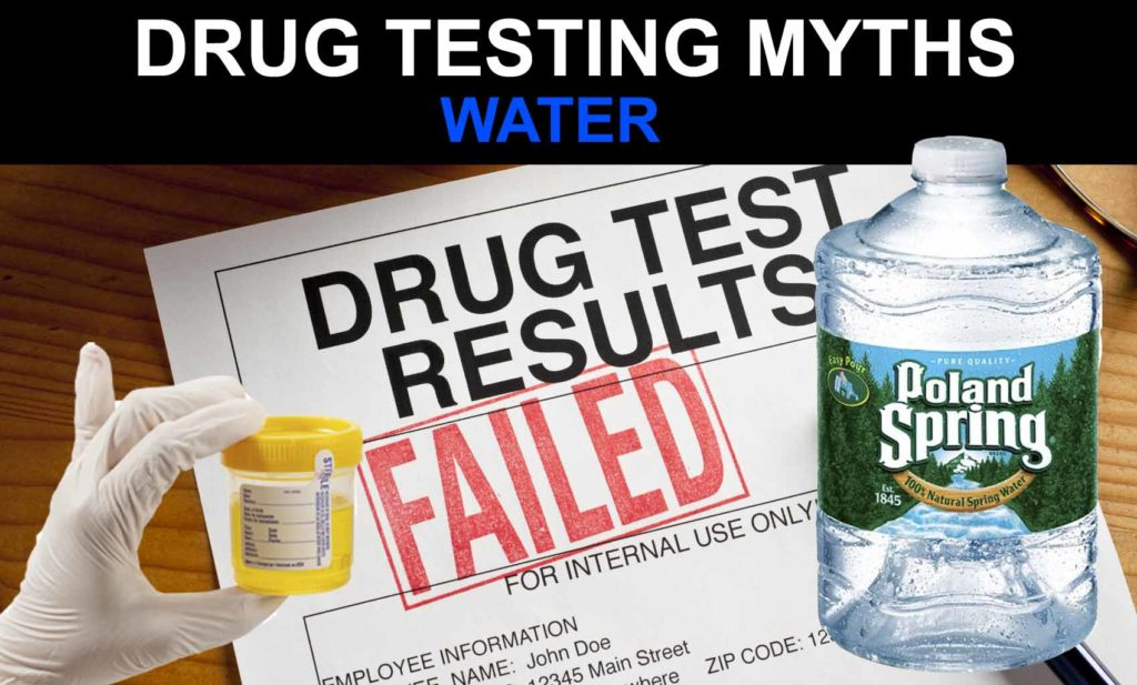 Can you pass a drug test by drinking water