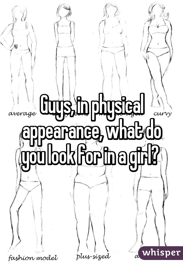 What do you look for in a girl