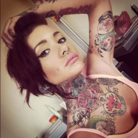 Girls with tattoos and piercings