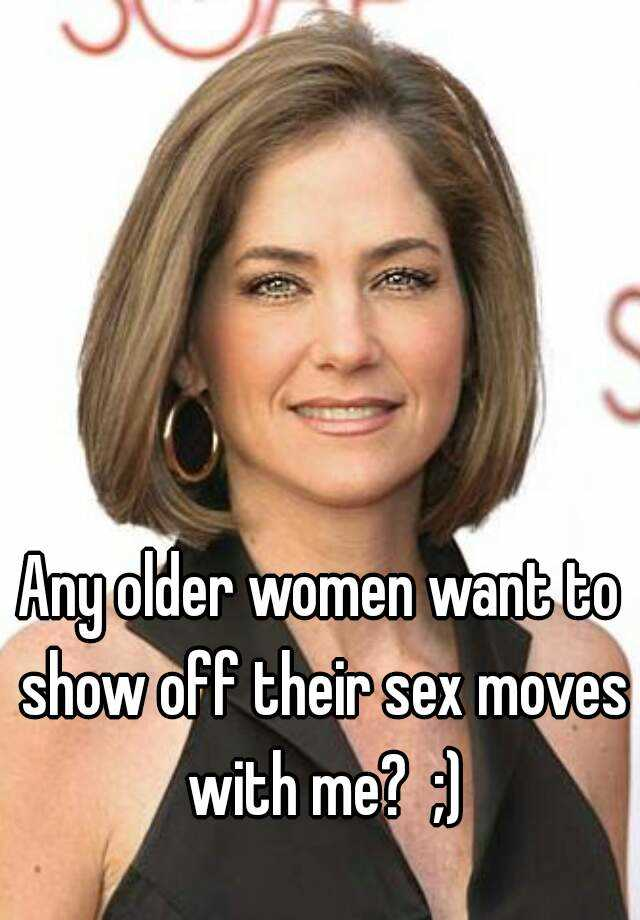 Do older women like sex