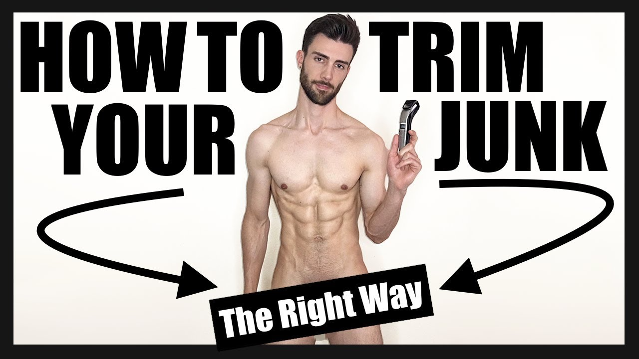 How to trim pubes guys