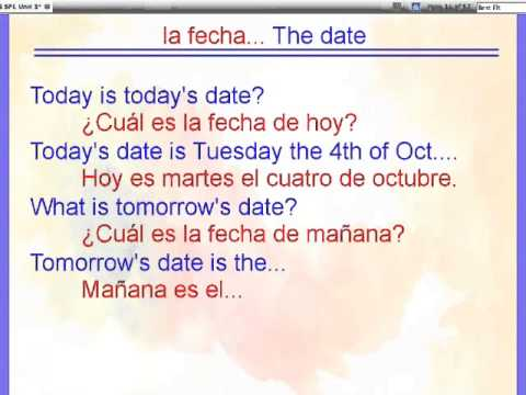 How do you say date in spanish