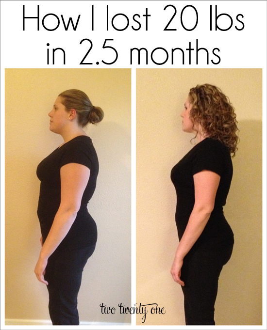 20 lbs in 2 months