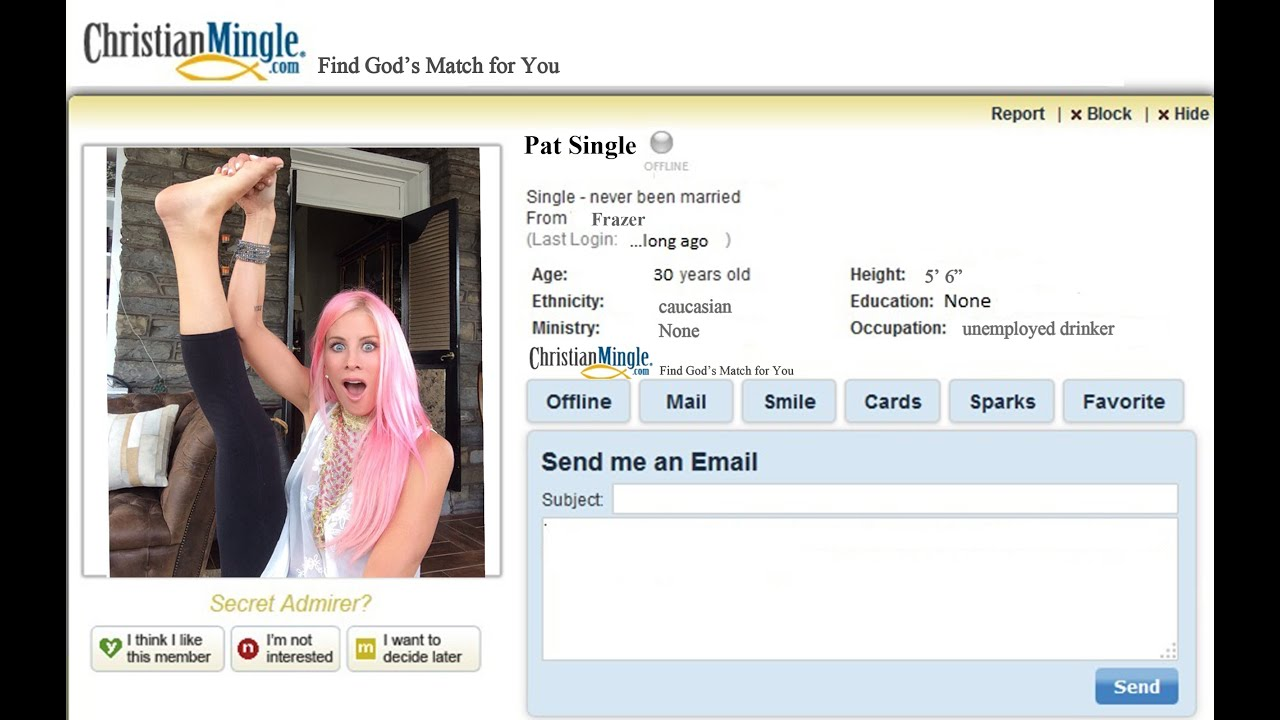 Secret admirer on christian mingle