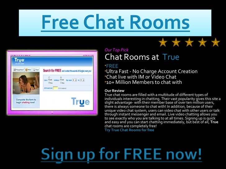 Free chat rooms no