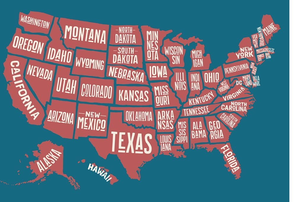 How many states start with a vowel.