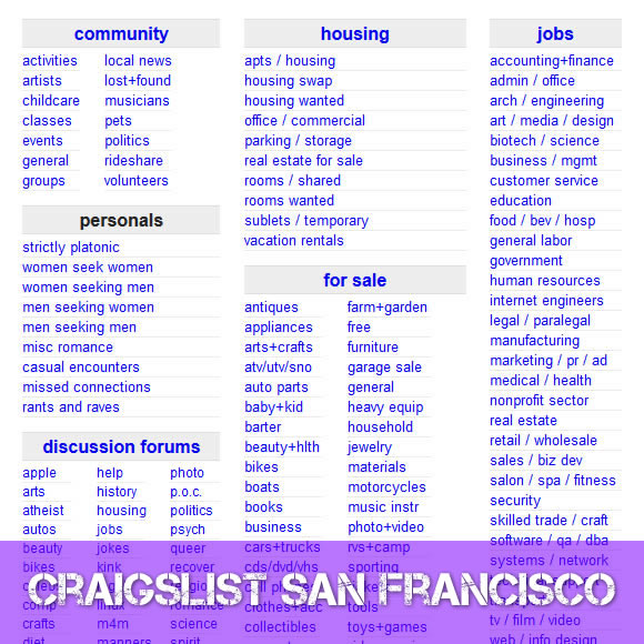 Craigslist san francisco personals