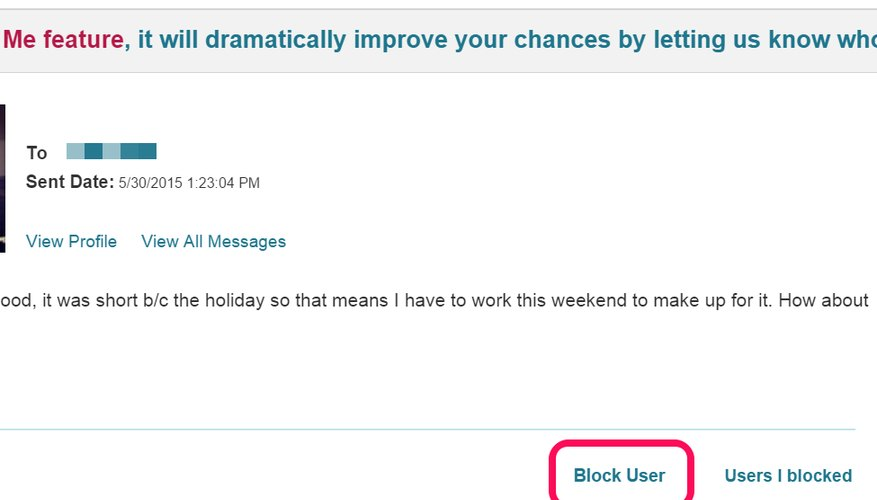How do i know if im blocked on pof