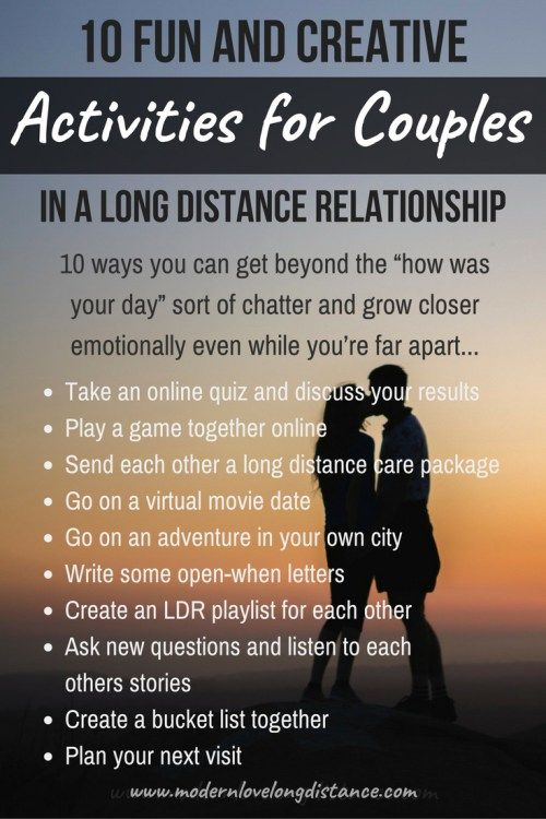 Long distance relationship quiz