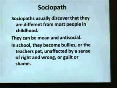 What is a sosiopath